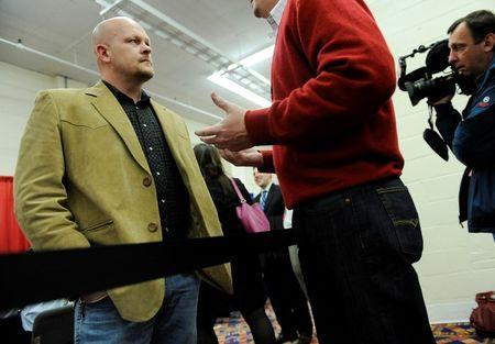 Samuel Joseph Wurzelbacher, known as Joe the Plumber, at the American Conservative Union's annual Conservative Political Action Conference (CPAC) in Washington, February 9, 2012. REUTERS/Jonathan Ernst