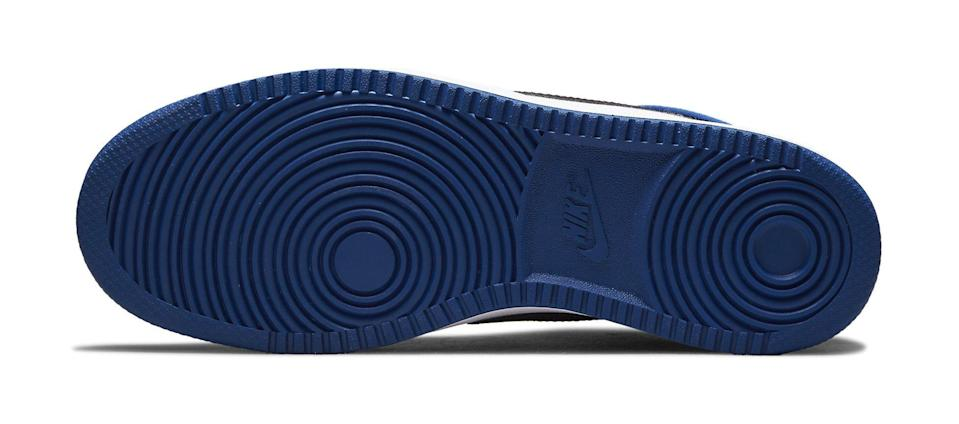 """The outsole of the Air Jordan 1 KO """"Storm Blue."""" - Credit: Courtesy of Nike"""