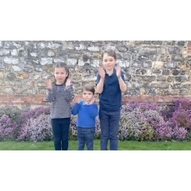 <p>Princess Charlotte, Prince Louis and Prince George starred in an Instagram video in March 2020, participating in the Clap for Carers movement amid the coronavirus pandemic.</p>