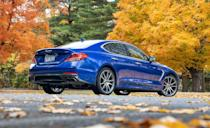 """<p>Skeptical of the low-cost luxury sports sedan from Genesis? Maybe the <a href=""""https://www.iihs.org/ratings/vehicle/genesis/g70-4-door-sedan/2021"""" rel=""""nofollow noopener"""" target=""""_blank"""" data-ylk=""""slk:G70's IIHS Top Safety Pick+"""" class=""""link rapid-noclick-resp"""">G70's IIHS Top Safety Pick+</a> award will put those worries on ice. The <a href=""""https://www.caranddriver.com/genesis/g70"""" rel=""""nofollow noopener"""" target=""""_blank"""" data-ylk=""""slk:G70"""" class=""""link rapid-noclick-resp"""">G70</a> received Good and Superior ratings on all crash tests and headlight measurements, but came up short on the somewhat difficult to use child-seat latches. The IIHS said the lower anchors were too deep in the seat, and it made maneuvering around them difficult. We've noted several times that rear seat space is tight on the G70, but its balanced chassis and driving feel at a base price of $37,000 is an unbeatable deal. The G70 comes with more standard driver-assist technology than many of its rivals. Automated emergency braking with pedestrian detection, lane-departure warning and lane-keeping assist, and adaptive cruise control are all standard. The G70 avoided all IIHS vehicle-to-vehicle front crashes, as well as 12- and 25-mph vehicle-to-pedestrian impacts. During the 37 mph vehicle-to-pedestrian test, the G70 dropped to just 4 mph in under a second. The brake force is strong with this one.</p><p><a class=""""link rapid-noclick-resp"""" href=""""https://www.caranddriver.com/reviews/a28485496/2019-genesis-g70-reliability-maintenance/"""" rel=""""nofollow noopener"""" target=""""_blank"""" data-ylk=""""slk:G70 TESTED"""">G70 TESTED</a> 