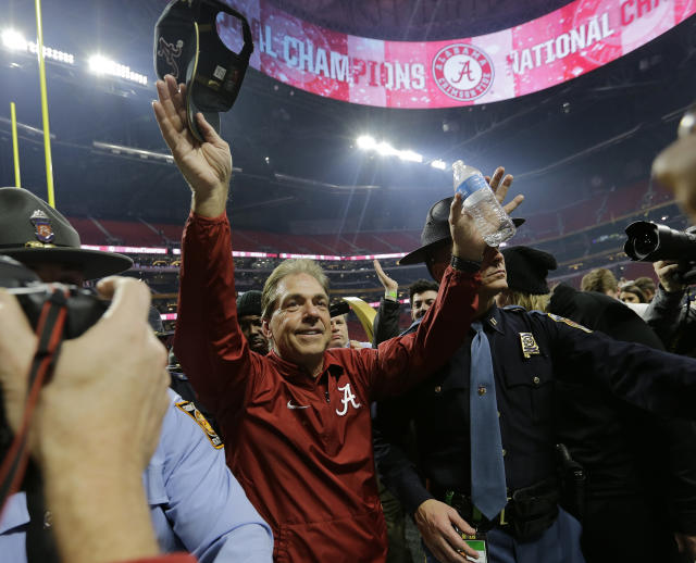 Will Nick Saban and Alabama be celebrating another title this season? (AP)