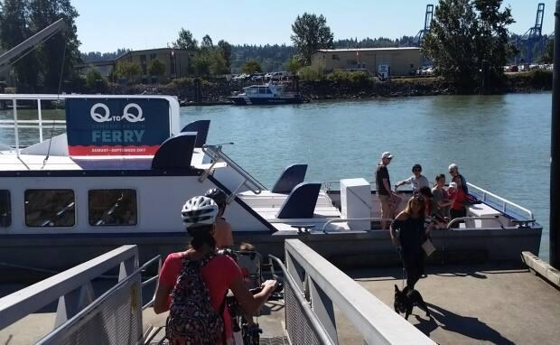 The Q to Q ferry travels from a dock below the Inn at the Quay to the Port Royal public dock in Queensborough.