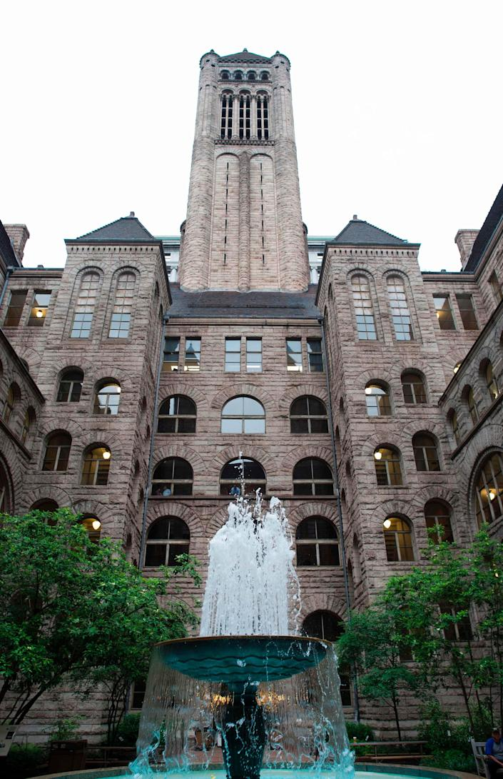 The Allegheny County Courthouse in Pittsburgh, Pennsylvania.