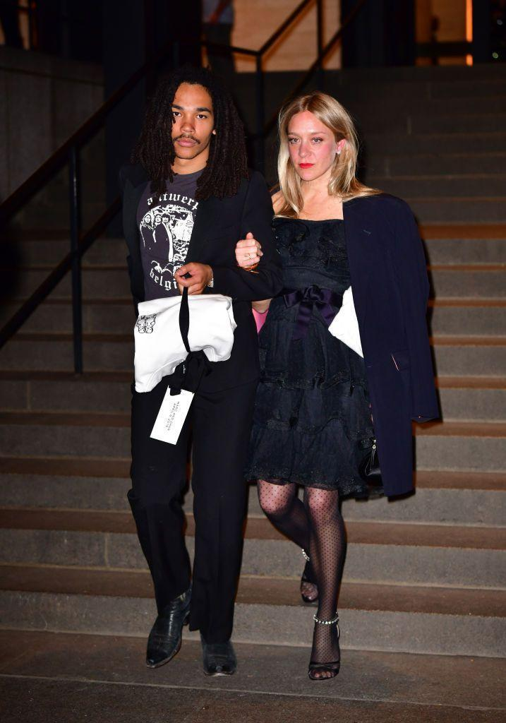 <p>Sevigny donned a little black dress for the occasion.</p>