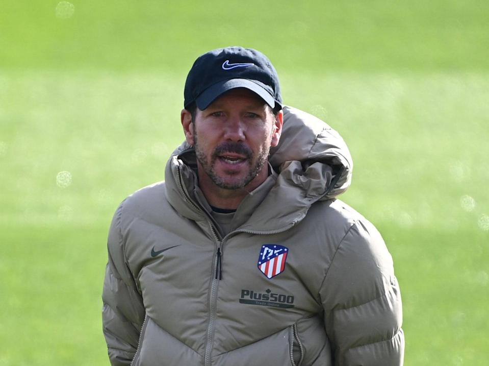 Atletico Madrid coach Diego Simeone (AFP via Getty Images)