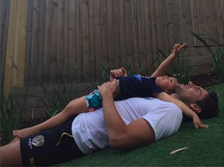 The couple also share son River. Photo: Instagram