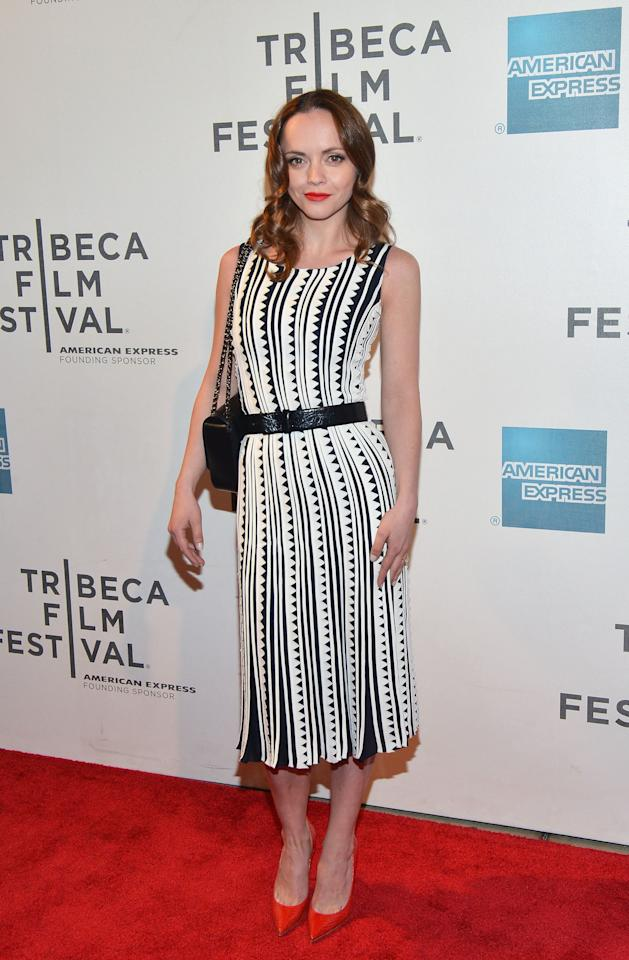 "NEW YORK, NY - APRIL 27:  Actress Christina Ricci attends the ""The Smurfs"" Family Festival Screening during the 2013 Tribeca Film Festival on April 27, 2013 in New York City.  (Photo by Slaven Vlasic/Getty Images)"
