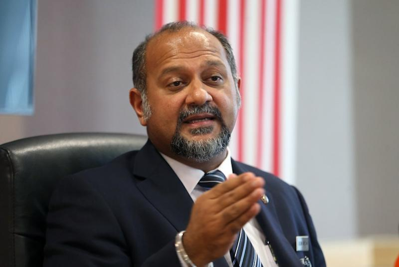 Gobind Singh Deo holds a press conference in Putrajaya June 20, 2018. — Picture by Razak Ghazali