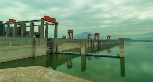 The Three Gorges dam water levels are already above its flood line. Photo: Handout