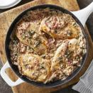 <p>Serve these saucy, ultra-quick chicken cutlets over your favorite pasta. This easy dinner recipe is sure to become a new weeknight favorite.</p>