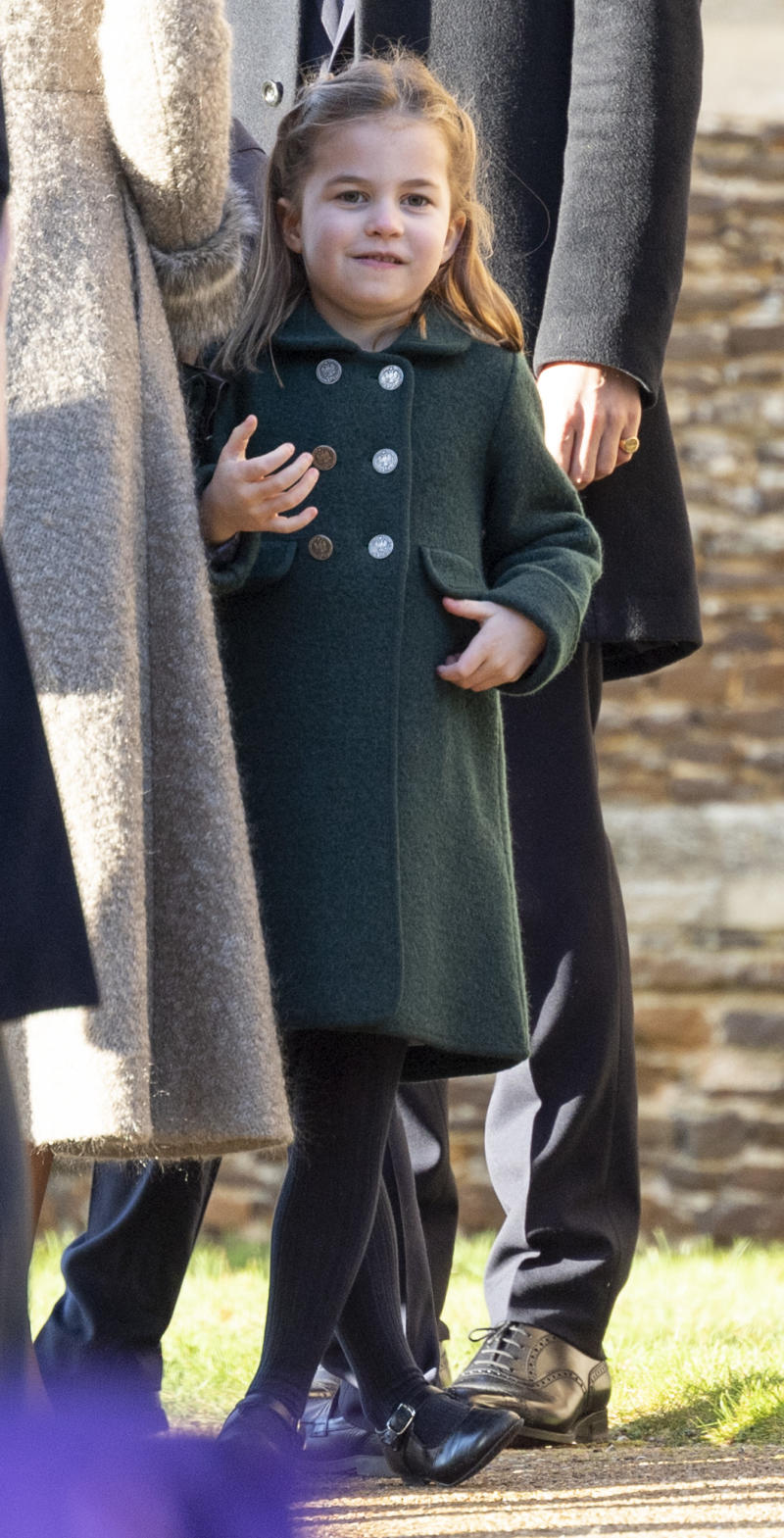 Princess Charlotte of Cambridge at the Christmas Day Church service at Church of St Mary Magdalene on the Sandringham estate on December 25, 2019 in King's Lynn, United Kingdom.