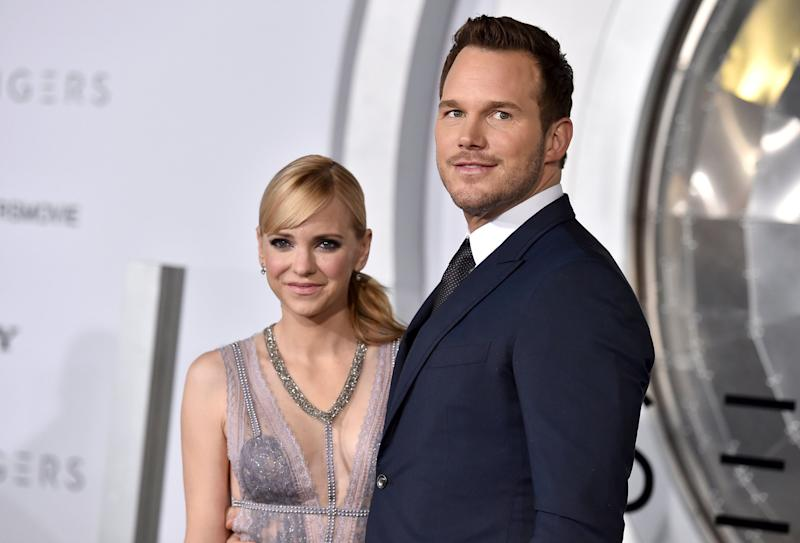 "Anna Faris and Chris Pratt arrive at the premiere of ""Passengers"" in 2017.  (Photo: Jordan Strauss/Invision/AP)"