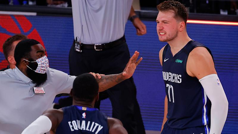 What Luka Doncic's game-winning buzzer-beater sounded like inside the NBA bubble