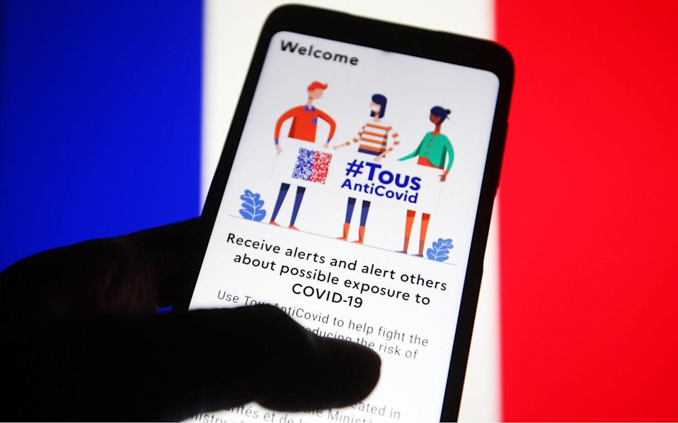 France's Covid tracking app - Shutterstock