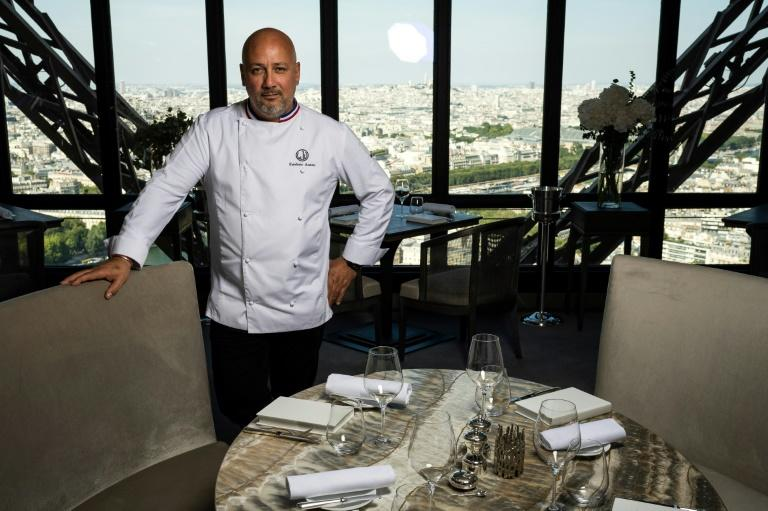 Frederic Anton was part of a consortium that won the concession last year to provide food at the Parisian landmark (AFP Photo/Lionel BONAVENTURE)