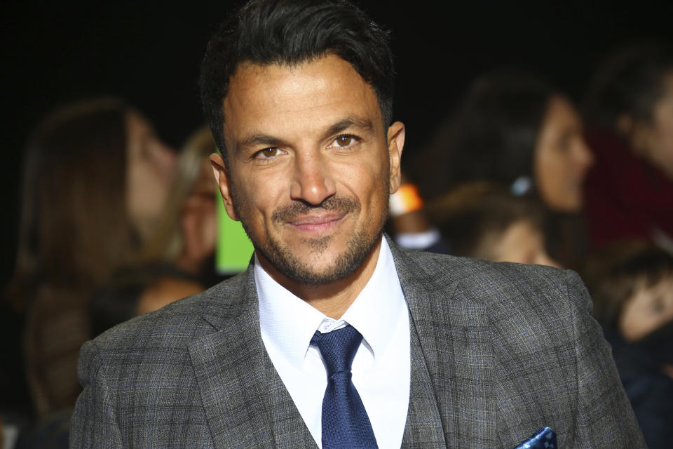 Peter Andre poses for photographers upon arrival for the Pride of Britain Awards at a central London hotel, Monday, Oct. 29, 2018. (Photo by Joel C Ryan/Invision/AP)