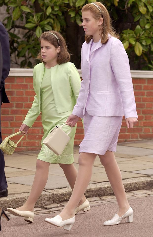 """<a href=""""https://people.com/tag/princess-eugenie/"""">Princess Eugenie</a> is often accompanied by sister <a href=""""https://people.com/tag/princess-beatrice/"""">Princess Beatrice</a> in her epic throwback posts, including this shot from a <a href=""""https://people.com/royals/princess-eugenie-laughs-at-her-teen-fashion-choices-with-beatrice-in-epic-90s-throwback-photo/"""">church outing in 2001 in coordinating outfits</a>.  """"Bea and I are laughing hysterically after contemplating what on earth was in our handbags that day going to church…"""" she captioned the photo. """"We quite clearly are loving our full lime green and lilac suits!!"""""""