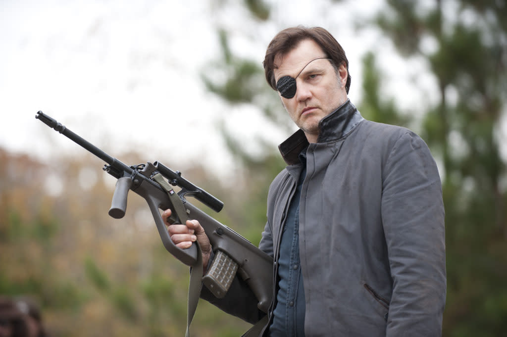 "The Governor (David Morrissey) in ""The Walking Dead"" Season 3 Finale, ""Welcome to the Tombs."""