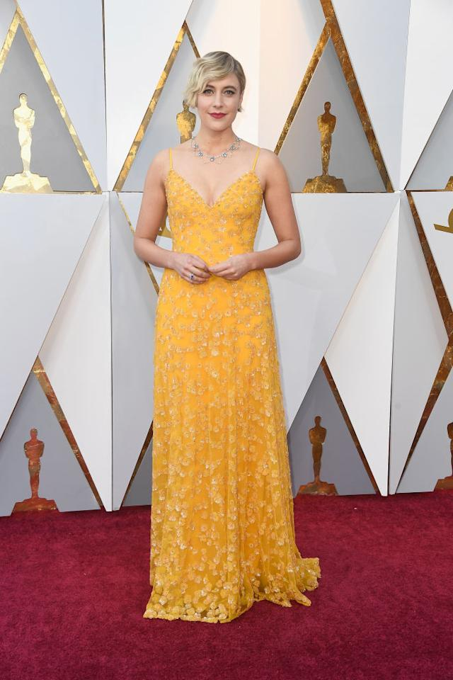 Greta Gerwig attends the 90th Academy Awards in Hollywood, Calif., March 4, 2018. (Photo: Getty Images)
