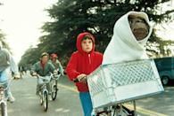<ul> <li><strong>What to wear:</strong> A red zip-up jacket (make sure your hood is up!), a bike, and any kind of creature you want.</li> </ul>