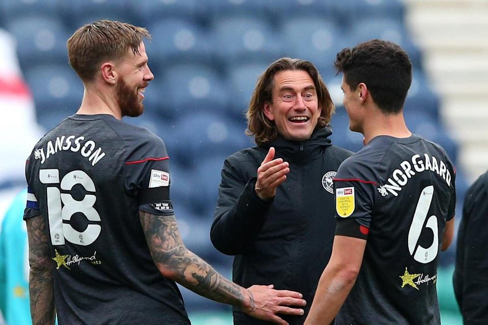 <p>Thomas Frank and Christian Norgaard both believe Brentford are in a calmer place</p> (Getty Images)