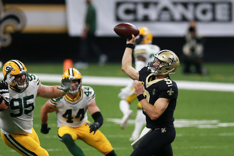 Drew Brees #9 of the New Orleans Saints