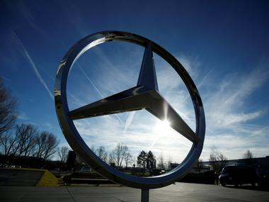 A Mercedes Benz logo is pictured at a customer center at the Mercedes Benz factory in Sindelfingen, Germany. Image: Reuters
