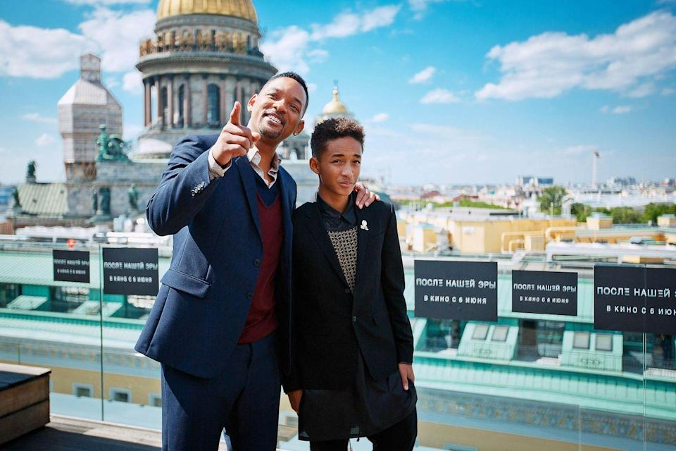 <p>Will Smith and Jaden Smith attend a photocall to promote their new film <em>After Earth</em> at the W Hotel on May 28, 2013 in Saint-Petersburg, Russia.</p>