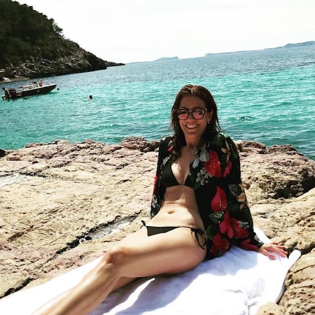 "<p>What else can you do when you're looking this good while lounging in a black bikini and coverup in Ibiza but ask a friend to take your pic? No shame in that, Kate. (Photo: <a href=""https://www.instagram.com/p/BUKVZFVlly1/?taken-by=katewalsh"" rel=""nofollow noopener"" target=""_blank"" data-ylk=""slk:Kate Walsh via Instagram"" class=""link rapid-noclick-resp"">Kate Walsh via Instagram</a>)<br><br></p>"