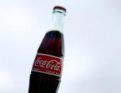 FILE PHOTO: A bottle of Coca-Cola is shown in this photo illustration in Encinitas, California