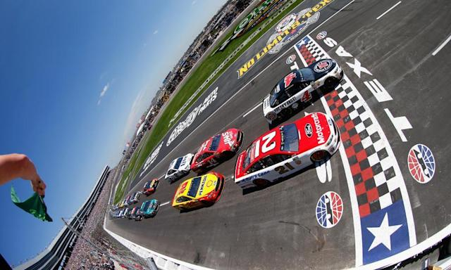 "<span class=""element-image__caption"">The Nascar season comes is down to one race on Sunday at Homestead Miami Speedway with <a class=""link rapid-noclick-resp"" href=""/nascar/sprint/drivers/947/"" data-ylk=""slk:Kyle Busch"">Kyle Busch</a>, <a class=""link rapid-noclick-resp"" href=""/nascar/sprint/drivers/205/"" data-ylk=""slk:Kevin Harvick"">Kevin Harvick</a>, <a class=""link rapid-noclick-resp"" href=""/nascar/sprint/drivers/1124/"" data-ylk=""slk:Brad Keselowski"">Brad Keselowski</a> and <a class=""link rapid-noclick-resp"" href=""/nascar/sprint/drivers/380/"" data-ylk=""slk:Martin Truex Jr"">Martin Truex Jr</a> still in play for the championship.</span> <span class=""element-image__credit"">Photograph: Jonathan Ferrey/Getty Images</span>"