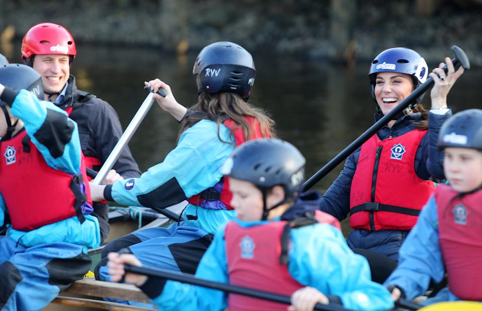 William pipped his wife at the post during a kayak race in Northern Ireland in February 2019.<em> [Photo: Getty]</em>
