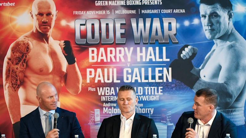 BOXING BARRY HALL PAUL GALLEN PRESSER