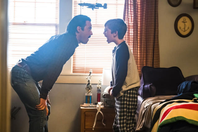 Milo Ventimiglia as Jack and Parker Bates as Kevin in NBC's 'This Is Us'(Photo: Ron Batzdorff/NBC)
