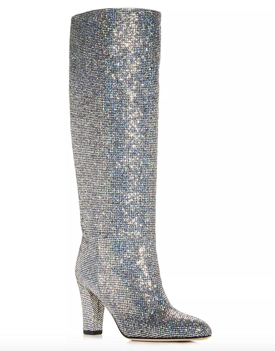 <p><span>SJP by Sarah Jessica Parker Studio Glitter Pointed Toe High-Heel Boots</span> ($595) </p>