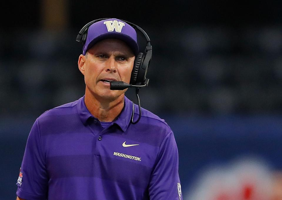 ESPN's Mark Jones took another shot at Washington on Twitter on Sunday. The Pac-12 on Monday announced that Jones will not be calling any Huskies games this season as a result. (Getty Images)
