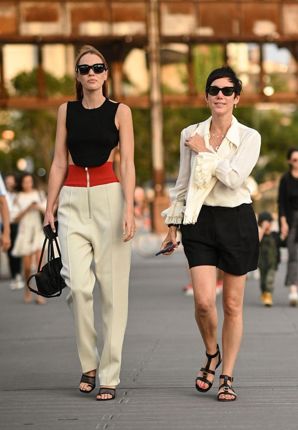 <p>Tiernan Cowling and Beth Buccini are seen outside the Proenza Schouler show during New York Fashion Week.</p>