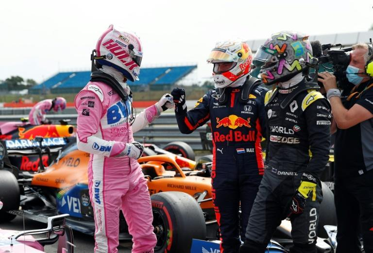 Hulkenberg gets congratulations from rival drivers