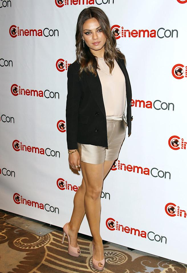 LAS VEGAS, NV - APRIL 24:  Mila Kunis arrives at CinemaCon 2012 - Walt Disney Studio Motion Pictures event held on April 24, 2012 in Las Vegas, Nevada.  (Photo by Michael Tran/FilmMagic)