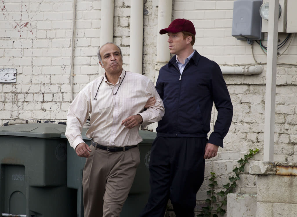"Nasser Faris as Bassel (The Tailor) and Damian Lewis as Nicholas ""Nick"" Brody in the ""Homeland"" Season 2 episode, ""State of Independence."""