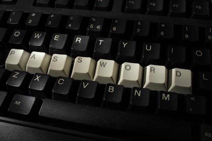 Computer keyboard with letters stacked in the word 'password' is seen in this illustration picture taken in Warsaw