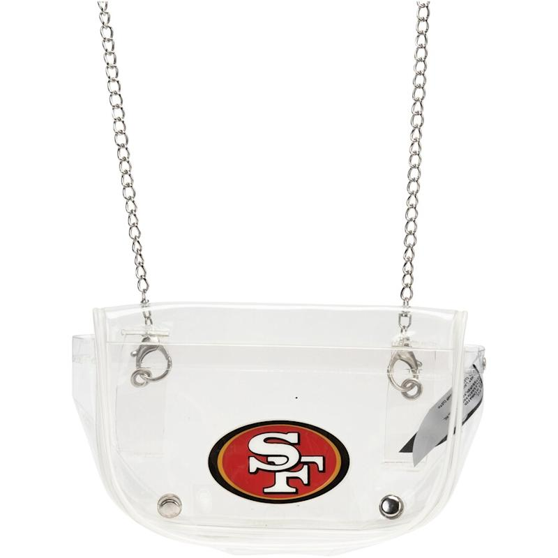 San Francisco 49ers Clear Crossbody Purse