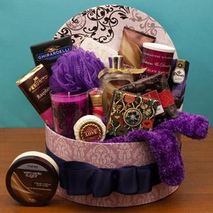 Gift basket for a spa mama