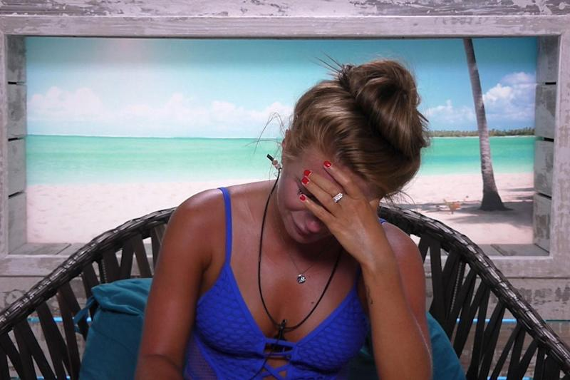 Fuming: Dani Dyer has lashed out at Ellie Jones: ITV