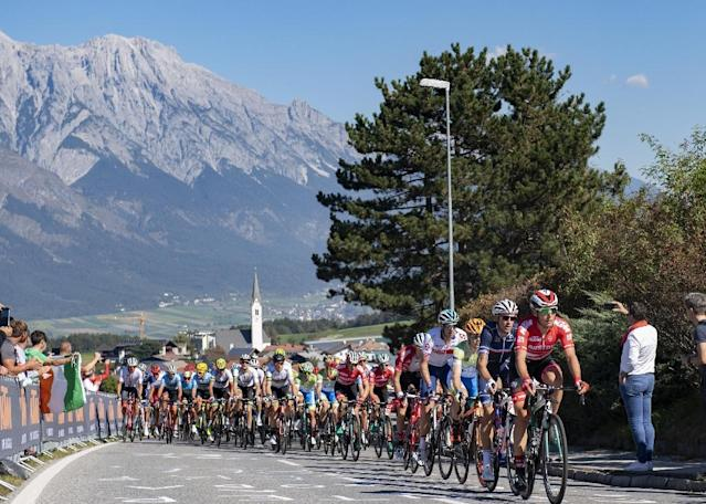 This year's road world cycling championships took place in Innsbruck, twice a host of the Winter Olympics (AFP Photo/Reinhard EISENBAUER)