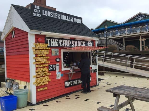 The lobster was stolen from a shed next to The Chip Shack shortly after 11 a.m. Wednesday. (Nancy Russell/CBC - image credit)