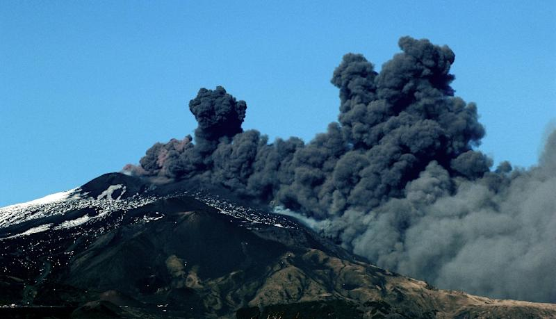 Mount Etna is 3,300 metres high with frequent eruptions recorded in the past 2,700 years (AFP Photo/GIOVANNI ISOLINO)