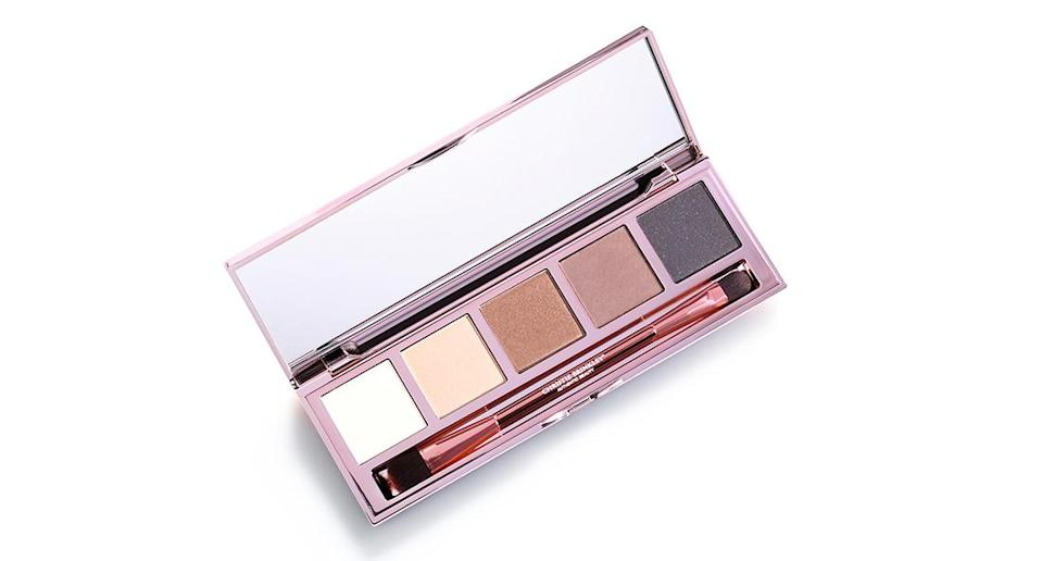 The Prime Time Day to Night Nudes Eyeshadow Palette from Christie Brinkley's makeup line is a must-have. (Photo: Christie Brinkley Authentic Beauty)