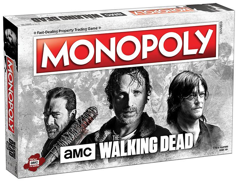 "<p>There's already a Monopoly based on<i>The Walking Dead</i> comic book, but <a rel=""nofollow"" href=""https://www.shopthewalkingdead.com/products/monopoly-the-walking-dead-game-amc-tv-edition?variant=31263784658"">this USAopoly game</a> is devoted to the TV series, with Jeffrey Dean Morgan, Andy Lincoln, and Norman Reedus gracing the front of the package. Plenty of other cast members are featured on the game board, and game pieces include Michonne's katana, Rick's gun, Daryl's crossbow, and, of course, Negan's deadly bat, Lucille. Downtown Atlanta, Terminus, and the prison guard tower are among the locations you'll travel as you pass Go, all in the hopes of making it to the most valuable properties: the Alexandria guard tower and the Alexandria main gate, which stand in for Park Place and Boardwalk.<br />(Photo: usaopoly.com) </p>"