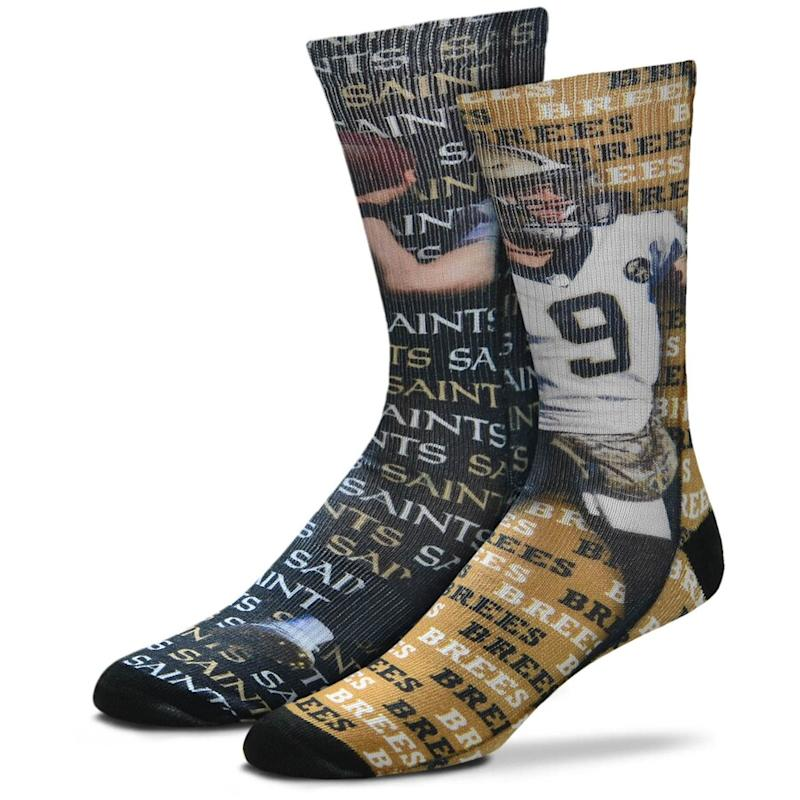 Drew Brees New Orleans Saints Say My Name Crew Socks